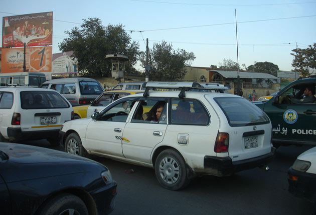 Traffic in Kabul