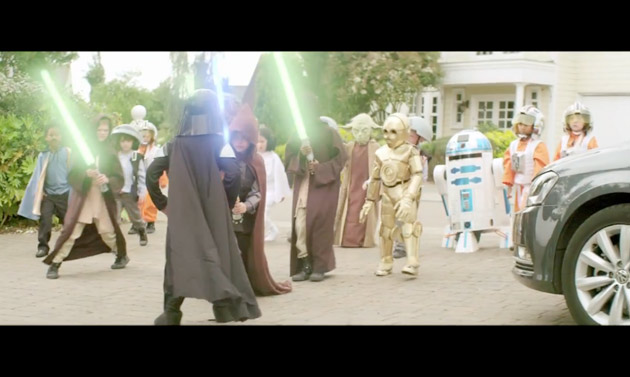 Greenpeace parody of VW's Little Vader ad