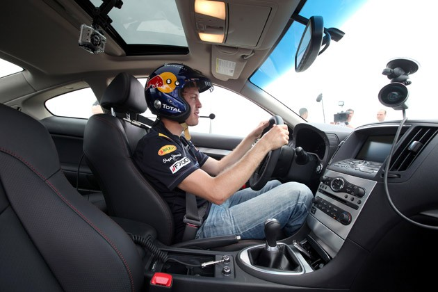 Sebastian Vettel in the IPL G Coupe at ICAR