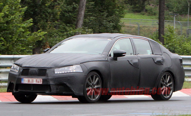 Lexus GS spy shots