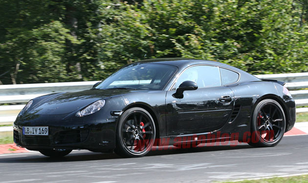 Next-gen Porsche Cayman spy shots
