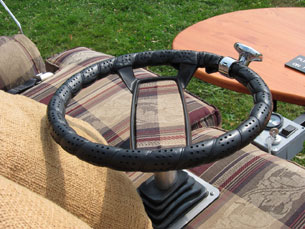 Suzuki Motorized Electric Couch Sofa steering wheel