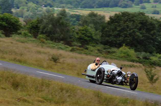 2012 Morgan 3 Wheeler driving