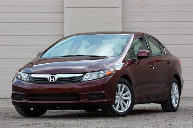 2012 Honda Civic - front three-quarter view, maroon