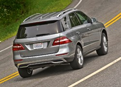 2012 Mercedes-Benz ML rear three-quarter view