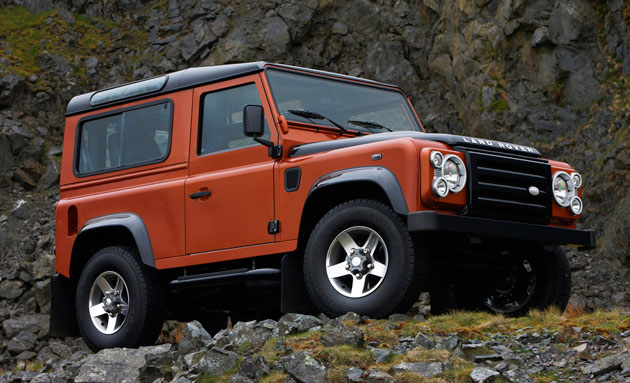 fire002d2e4 Land Rover Defender concept expected in Frankfurt