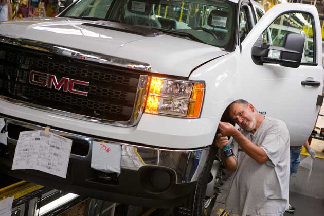 GMC Sierra HD at the Flint Assembly Plant