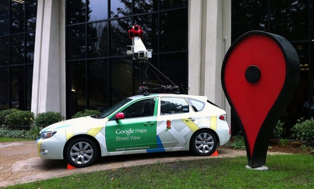 Google Street View car, photo by Matt McGee via Flickr