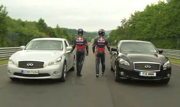 Vettel and Webber on the Nordschleife