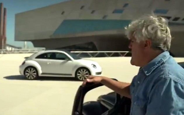 Jay Leno drives new and old Beetles