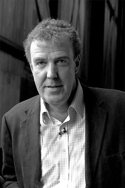 Jeremy Clarkson in black and white