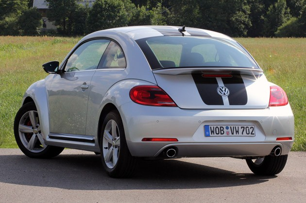 2012 Volkswagen Beetle Turbo rear 3/4 view