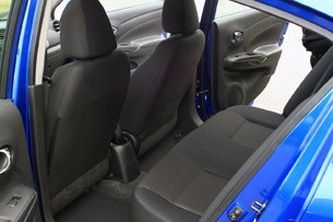 2012 Nissan Versa rear seats