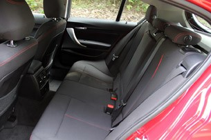 2012 BMW 1 Series Five-Door rear seats