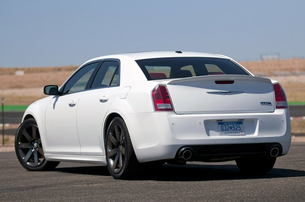 2012 Chrysler 300 SRT8 rear 3/4 view