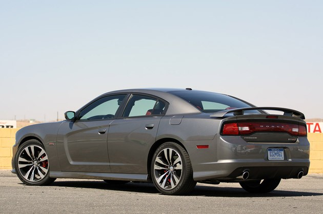 2012 Dodge Charger SRT8 rear 3/4 view