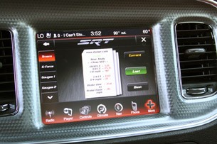 2012 Dodge Charger SRT8 digital timer