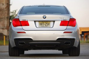 2011 BMW 740Li rear view