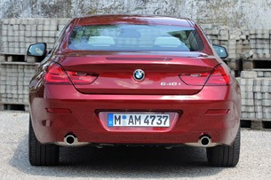 2012 BMW 6 Series Coupe rear view