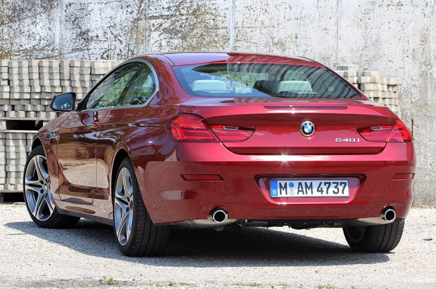 2012 BMW 6 Series Coupe rear 3/4 view