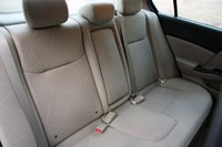2012 Honda Civic EX Sedan rear seats