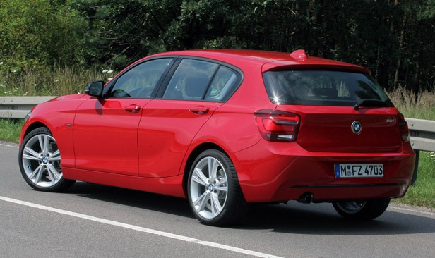 2012 BMW 1 Series Five-Door rear 3/4 view