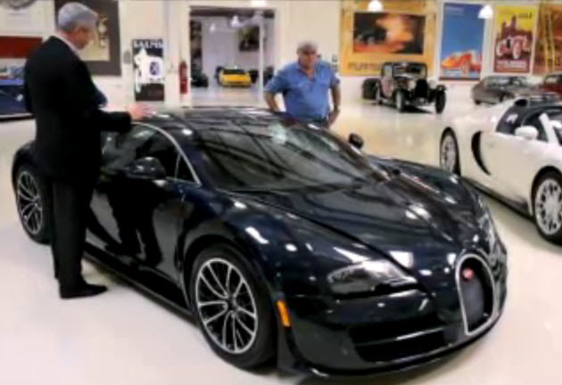 video jay leno tears it up in the bugatti veyron super sport. Black Bedroom Furniture Sets. Home Design Ideas