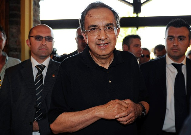 Sergio Marchionne at car launch