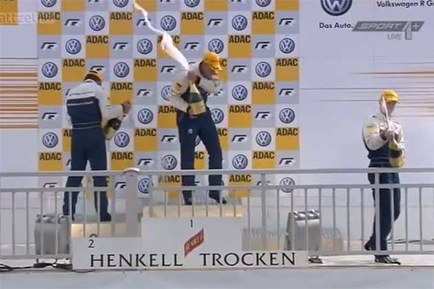 Ola Nilsson on the podium