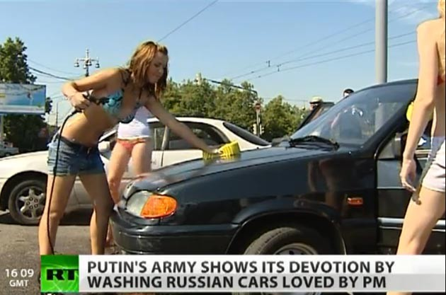 Putin's Army carwash