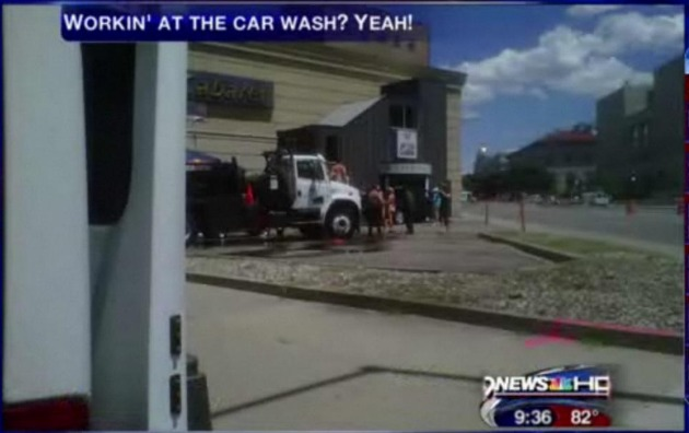 City of Denver Vehicle gets a hot bath