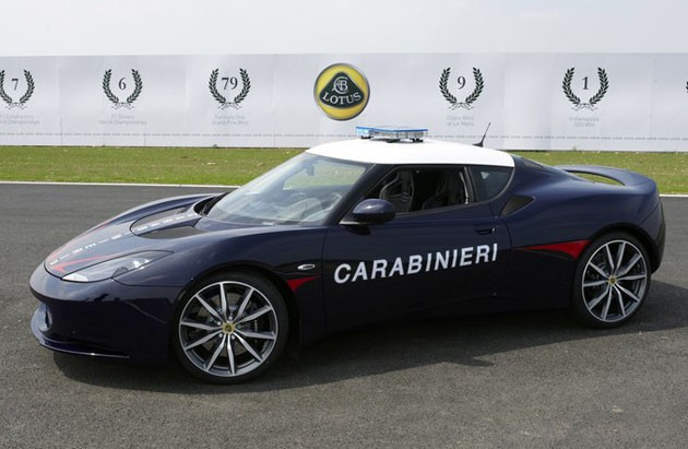 Lotus Evora S for Italian Carabinieri