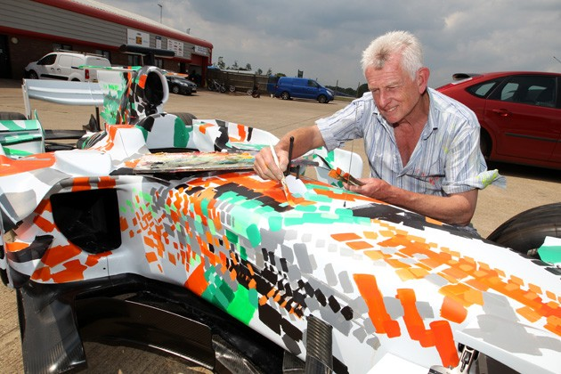 Force India VJM01-05 art car by Dexter Brown