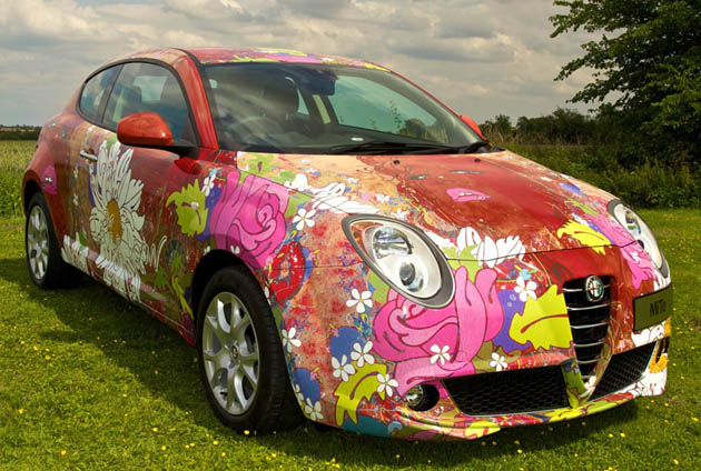 Alfa MiTo art car by Louise Dear