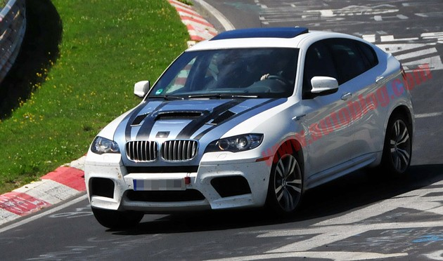 spy shot bmw x6 m tri-turbo diesel
