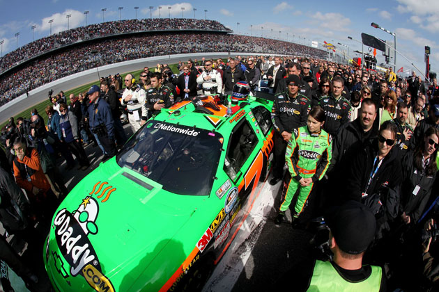 danica at the daytona 500