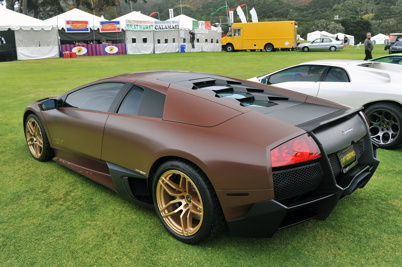 Monterey 2011 Matte Brown Lamborghini Murcielago Lp670 4 Sv on best car wraps