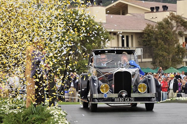 Peter Mullin's 1934 Voisin C-25 Aerodyne named 2011 Pebble Beach Concours d'Elegance Best of Show
