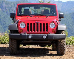 2012 Jeep Wrangler front view