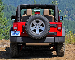 2012 Jeep Wrangler rear view