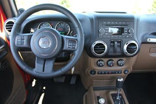 2012 Jeep Wrangler instrument panel