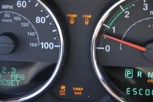2012 Jeep Wrangler gauges