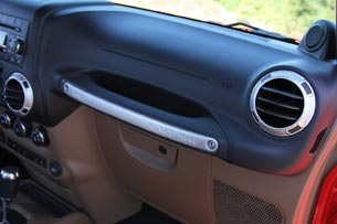 2012 Jeep Wrangler dashboard