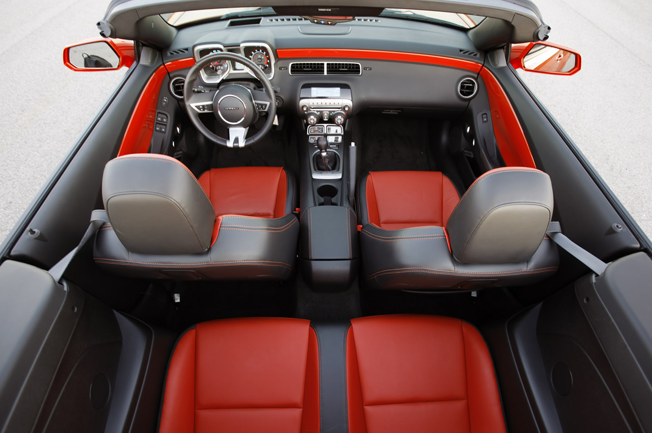 Image result for 2018 camaro ss convertible interior