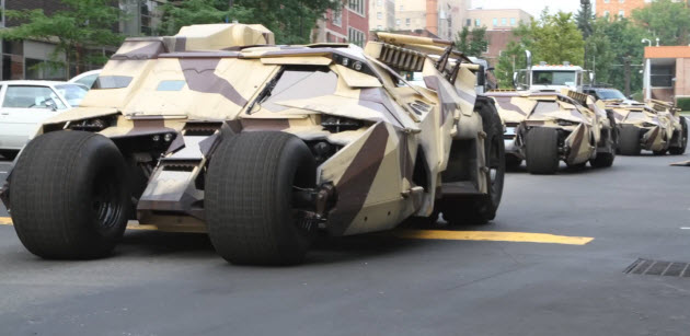 tumblers spotted in pittsburgh on the set of the dark knight rises