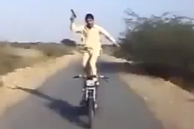 The Brave Pathan of Karachi motorcycle stunting