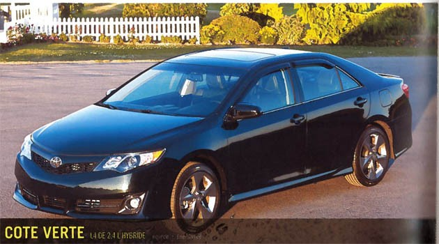 2012 Toyota Camry leak