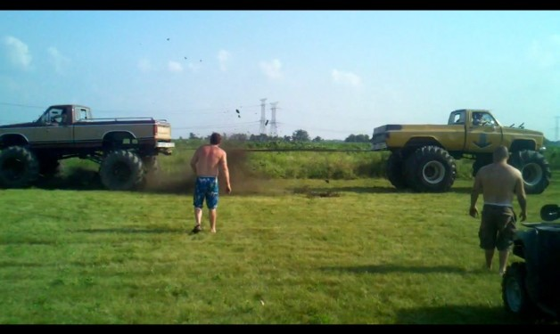 Chevy Vs. Ford Pulling Truck