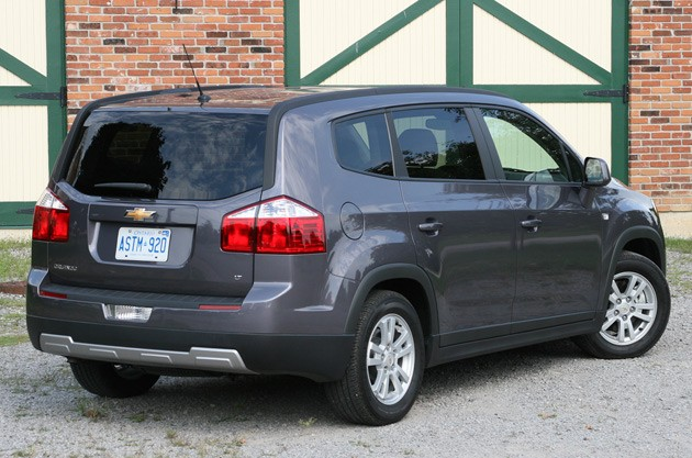 2012 Chevrolet Orlando rear view