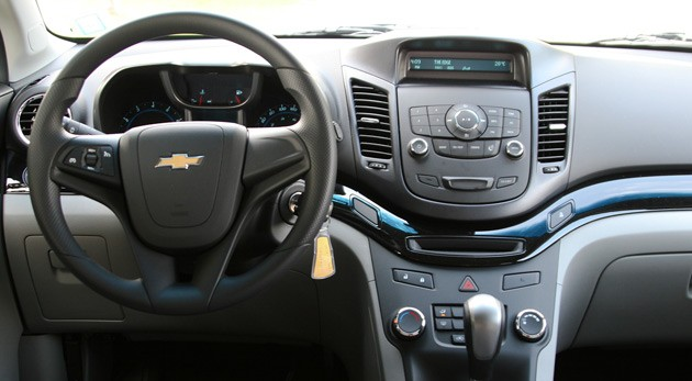 2012 Chevy Orlando dashboard